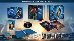 Aquaman Hdzeta Lenticular Boxset 4k + 2d Steelbook New