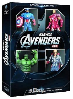 Avengers Combo Bluray Collector's Box 3d + Bluray + DVD + Figurines New