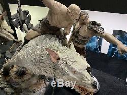 Azog On Warg Weta Like New Statue