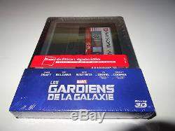 Blu Ray 3d + 2d The Guardians Of The Galaxy Steelbook Fnac New Packed (rare)