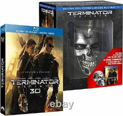 Blu-ray Terminator Genisys Collector's Edition Limited Endoskull Blu-ray 3d New