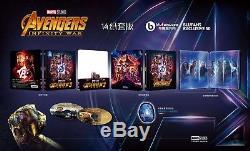 Blufans Marvel Avengers Infinity Steelbook War One Click + 1/4 Slip + Box
