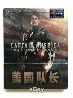 Bluray Steelbook Quarter Quarter Bluff Bluff Marvel Captain America First Avenger