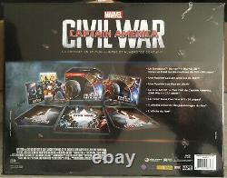 Captain America CIVIL War Coffret Steelbook Limited Edition Numbered Fnac New