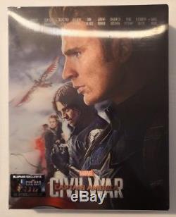Captain America CIVIL War Steelbook Blufans Double Lenticular Captain America