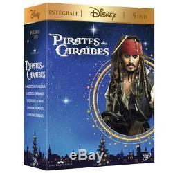DVD Pirates Of The Caribbean Box 5 Movies Johnny Depp, Geoffrey Rush, Astrid