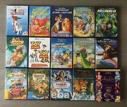 Disney Losange Dvd. Lot Of 90 DVD Comme Neuf, Perfect Condition