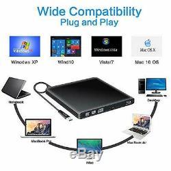 External Blu Ray 3d Player Dvd-rw Usb 3.0 Ultra Slim Mac Os Linux Pc