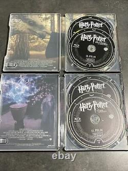 Harry Potter 8 Bluray Steelbook Full Collection Italy Embossed - Inner Prints