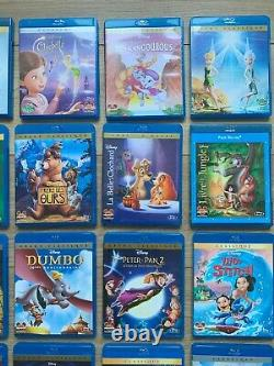 Huge Lot Collection From 54 Blu Ray Disney