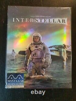 Interstellar Manta Lab Fullslip Steelbook Blu Ray Edition 4k Under Blister Sealed