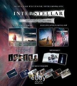 Interstellar One Click Boxset 3x Fulllslip Steelbook Edition Mantalab New