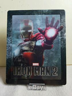 Iron Man 2 Bluray Steelbook Zavvi Lenticular Marvel