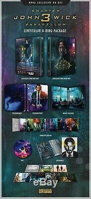 John Wick 3 Blu-ray Steelbook Exclusive Lenticular Novamedia Ne # 25