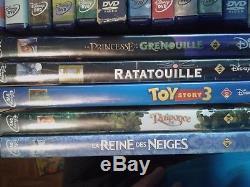 Lot 36 DVD Disney Rhombus Bear Brother Nemo Bambi Toy Story Dinosaur Tarzan