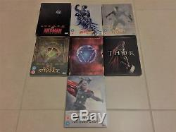 Lot 7 Blu-ray Marvel Steelbook Rare (thor, Iron Man, Doctor Strange, Ant-man.)