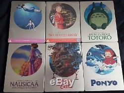 Lot Bluray Steelbook Hayao Miyazaki Studio Ghibli I Uk I Region B
