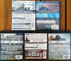 Lot Of 5 Blu-ray 4k (french) Including 2 Neufs (1 Steelbook)