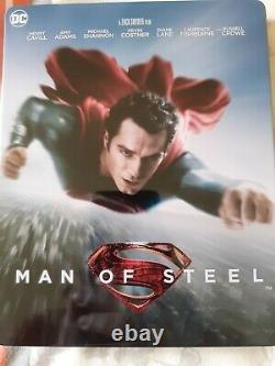 Man Of Steel Double Lenticular Fullslip Steelbook Edition Hdzeta Like New