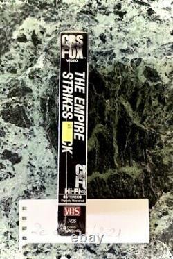 New Vintage Star Wars The Empire Strikes Back USA Sealed 1984 Cbs Fox Vhs Video