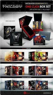 Pre-order Steelbook Weet Spider-man Trilogy One Click New /new
