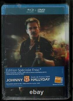 Rare Lenticular Steelbook Blu-ray + New Dvd/blister Johnny Hallyday Tour 66