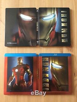 Rare Lot Bluray Steelbook Marvel Iron Man Blufans Lenticular & Futureshop