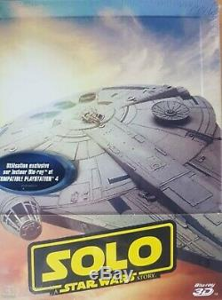 Solo Star Wars Steelbook Blu Ray 3d And 2d Nine Sub Cellophane