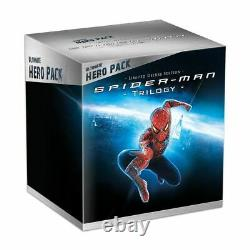 Spider-man Trilogy Box Blue-ray Ultimate Hero Pack Figure Venom New