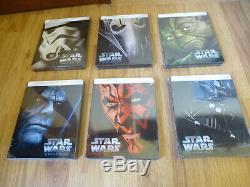 Star Wars Lot Of 6 Steelbook Limited Edition Blu-ray. En