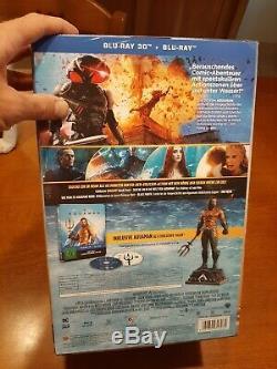 Steelbook 3d Blu-ray Collector's Edition Aquaman Figurine DC Comics