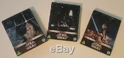 Steelbook Star Wars Trilogy Limited Edition Collector Zavvi Like New