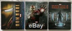 Steelbook Zavvi Lenticular Iron Man 1 2 And 3