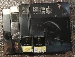 Terminator 1,3,4,5 Hdzeta Exclusive 4 Steelbook 1 / 4slip Schwarzenegger New