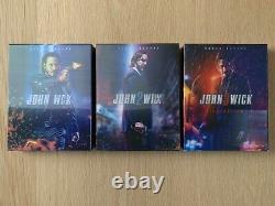 Trilogy John Wick Blu-ray Steelbook Novamedia 4k Uhd