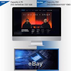 Usb 3.0 External Blu-ray Drive Reader / Writer Bd-rw Cd-rw Dvd-rw Drive For Pc