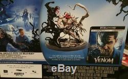 Venom Box Limited Collector's Edition Statue / Figurine Blu-ray New 4k