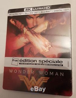 Wonder Woman Steelbook Bluray Ultrahd 4k 3d + 2d + Special Edition Fnac
