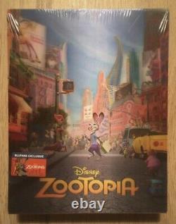 Zootopia Blufans One Click Steelbook + Box + Goodies Zootropolis Zootopie Disney