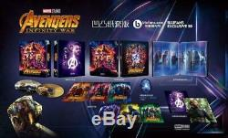 Avengers Infinity War One Click Blufans Exclusive #50 Steelbook Mint & Sealed