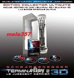 BRAS TERMINATOR 2 BLU-RAY UHD 3D NEUF 5053083125882 édition limitée numérotée