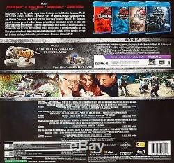 Coffret Blu Ray Jurassic Park Collection Dinosaures Ed Française RARE NEUF