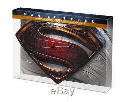 Coffret Collector Man Of Steel Bluray 3D Socle Métal Édition Numérotée