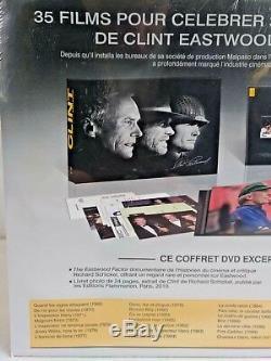 Coffret EDITION LIMITEE FNAC 35 DVD CLINT EASTWOOD Filmographie Documentaire Z1