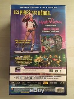Coffret Suicide Squad Edition limitée Statue Harley Quinn + Blu-ray 3D NEUF RARE