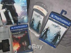 Final Fantasy VII crisis core cloud black ps1 guide psp ps2 dvd bluray ps3
