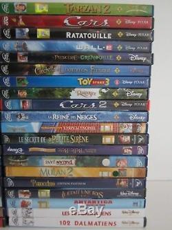 Gros Lot 40 Film DVD / Grand Classique Walt Disney Pixar / Numerotes Double Rar