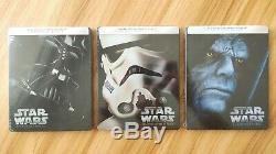 LOT Star Wars trilogie Episode IV V VI steelbook FR (Neuf)