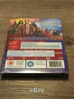 Lot Les Gardiens de la Galaxie 1 & 2 Blu-Ray Steelbook 3D FNAC rare
