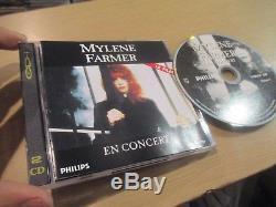 Mylene farmer rare cdi en concert 1er pressage lisible dvd rare comme promo